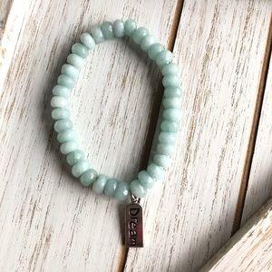 Blue Jade Gemstone Bracelet